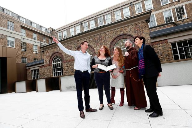 Pictured at the launch of '16 Letters at the Witness History Centre in the GPO was '16 Letters host Ryan Tubridy with some of those interviewed on the show Tessa Finn, Genevieve Harden, Fr Bryan Shortall and Andrea Martin. Picture: Conor McCabe Photography
