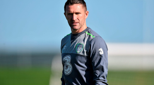 Robbie Keane will miss Ireland's friendly with Slovakia due to a knee injury . Photo: Sportsfile