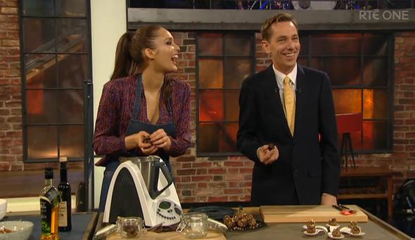 Roz Purcell and Ryan Tubridy on The Late Late Show