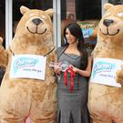 Kim Kardashain promoting Charmin public restrooms in New York