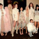 Khloe Kardashian, Kris Jenner, Kendall Jenner, Kourtney Kardashian, Kim Kardashian West, North West, Caitlyn Jenner and Kylie Jenner attend Kanye West Yeezy Season 3 at Madison Square Garden on February 11, 2016 in New York City. (Photo by Kevin Mazur/Getty Images for Yeezy Season 3)