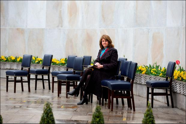 labour party leader joan burton at the Ceremony of Remembrance 1916 at the Garden of Remembrance yesterday. Picture By David Conachy. 26/03/2016