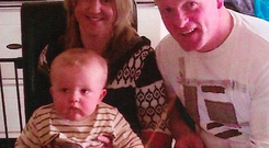 Elber and Con Twomey with their baby Oisin