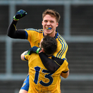 Ronan Daly and Ciarán Murtagh celebrate Roscommon's victory over Kerry. Photo: Diarmuid Greene/Sportsfile