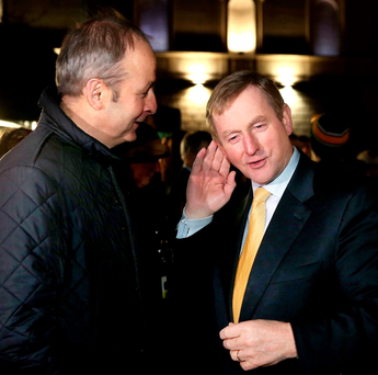 Reluctant bedfellows: Micheal Martin and Enda Kenny lead parties that are culturally quite different Photo: Maxpix