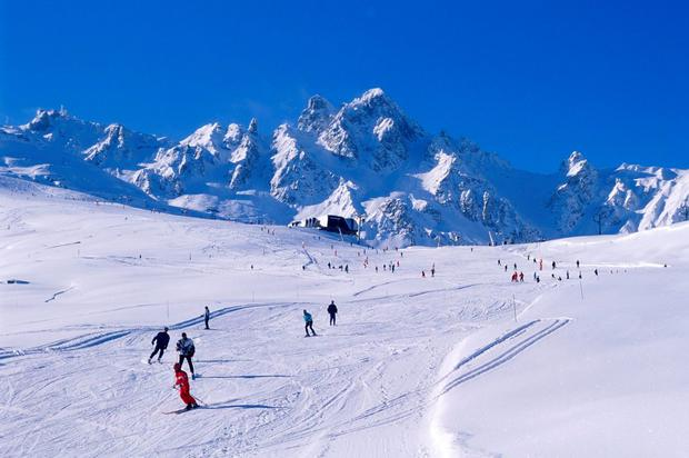 Holiday time: The luxury ski resort of Courchevel, in the French Alps is now a favourite with Irish skiers