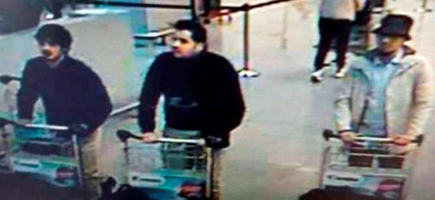 CCTV: The three caught on camera Photo: Belgian Federal Police/PA Wire