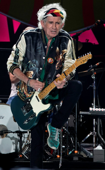 Grey power: The 72-year-old Keith Richards in Havana Photo: AP Photo/Enric Marti