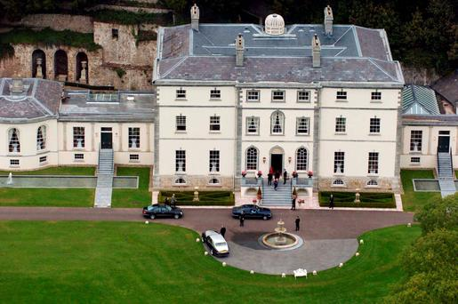 Castlehyde House, in Cork — which owner Michael Flatley has on the market at a breezy €20m with joint agents Knight Frank and Goffs — was once the seat of the Hyde family. Most famous of the line was Douglas Hyde, first President of Ireland and founder of the Gaelic League — the cultural organisation that laid a foundation for other nationalist bodies which played a part in 1916. In fact the first meeting of the seven signatories of the Proclamation to discuss a rising took place at the Gaelic League offices on Parnell Street in September 1914 Photo: Bernie Keating/Provision