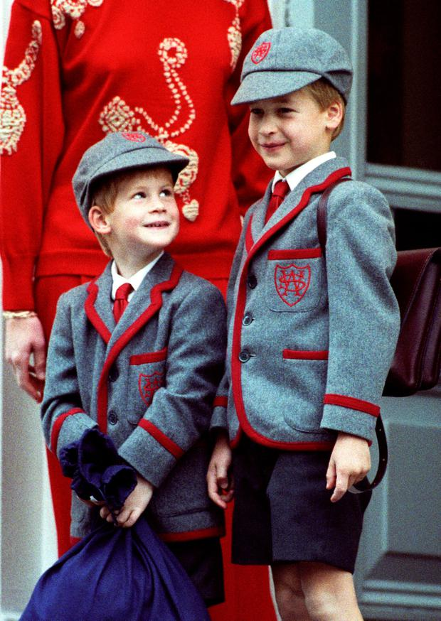 Prince William, On His Brother'S Prince Harry First Day At Wetherby School, In London. (Photo by Julian Parker/UK Press via Getty Images)