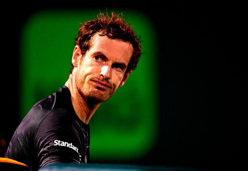 Andy Murray during his match against Denis Istomin during Day six of the Miami Open