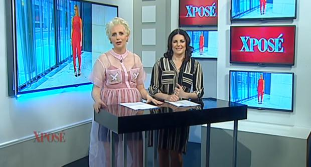 Aisling O'Loughlin in the Natalie B.Coleman dress on Xpose