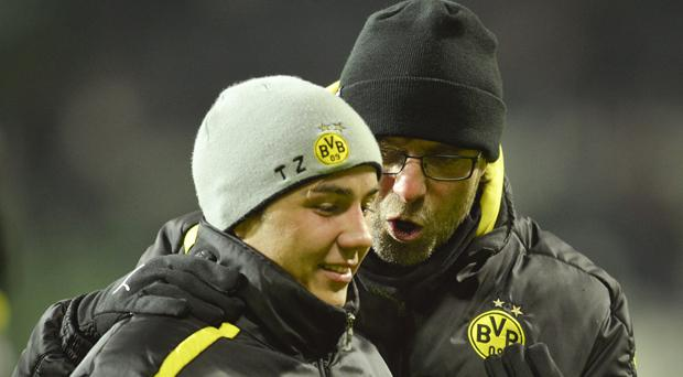Mario Gotze and Jurgen Klopp during their time at Borussia Dortmund