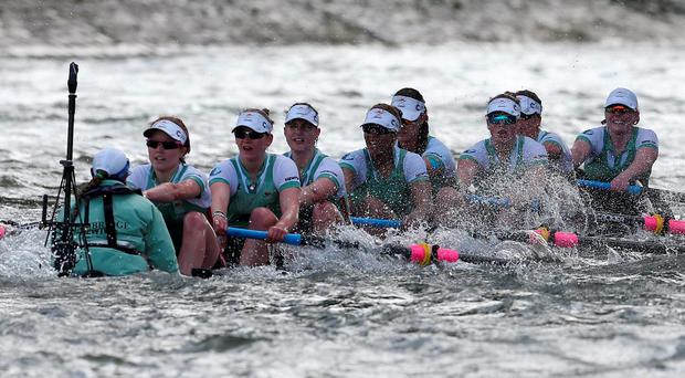 The Cambridge boat takes on water during the Women's Race Action Images via Reuters / Matthew Childs