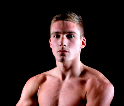 'Nick Blackwell (p) was later carried out on a stretcher and taken to St Mary's Hospital in London' Photo: PA