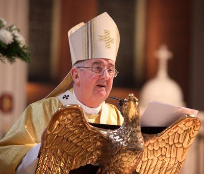 Archbishop Diarmuid Martin gives the homily at the Easter Vigil Mass at the weekend. Photo: John McElroy