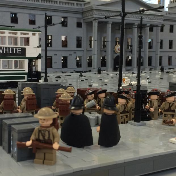 Paul Derrick recreated the 1916 Rising in Lego