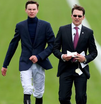Trainer Aidan O'Brian (left) with Joseph O'Brien. Photo: PA