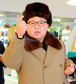 Tension: North Korean leader Kim Jong-un Photo: KCNA/AFP/Getty Images