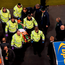 Martin O'Neill consoles Kevin Doyle as he's stretchered off on Friday night. Photo: Sportsfile