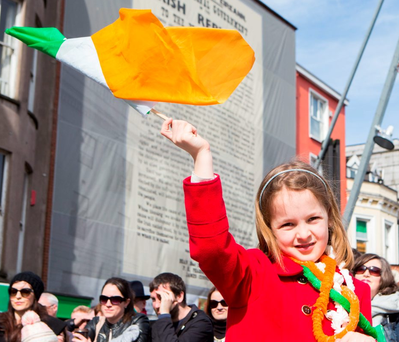 Áine Leahy from Ovens at the Cork celebrations. Photo: Darragh Kane