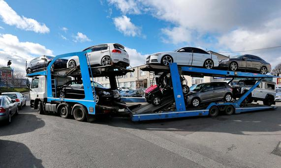 Some of the high-end vehicles seized during the garda raids