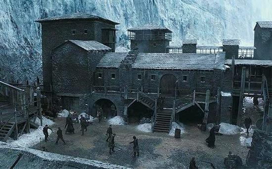The Castle Black set on Game of Thrones