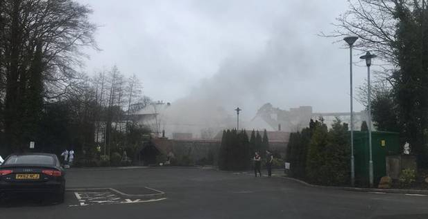 Fire at Galgorm Hotel Credit: Twitter