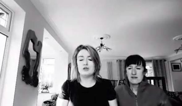 Meath sisters Amie Grendon and Deirdre Grendon Wall singing 'The Dawning of the Day'