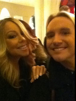 Mariah Carey and Irishman Adam Caslin. Photo: Facebook