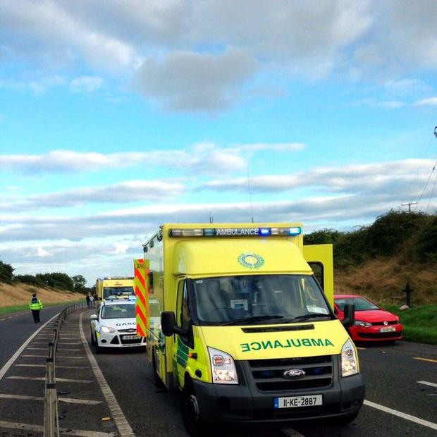 Ambulances at the scene this afternoon