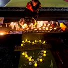 A vigil for Brussels attacks. Photo credit: Yui Mok/PA Wire