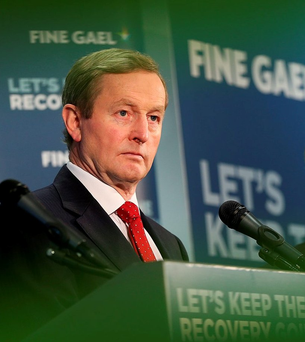 Acting Taoiseach Enda Kenny. Pic Steve Humphreys