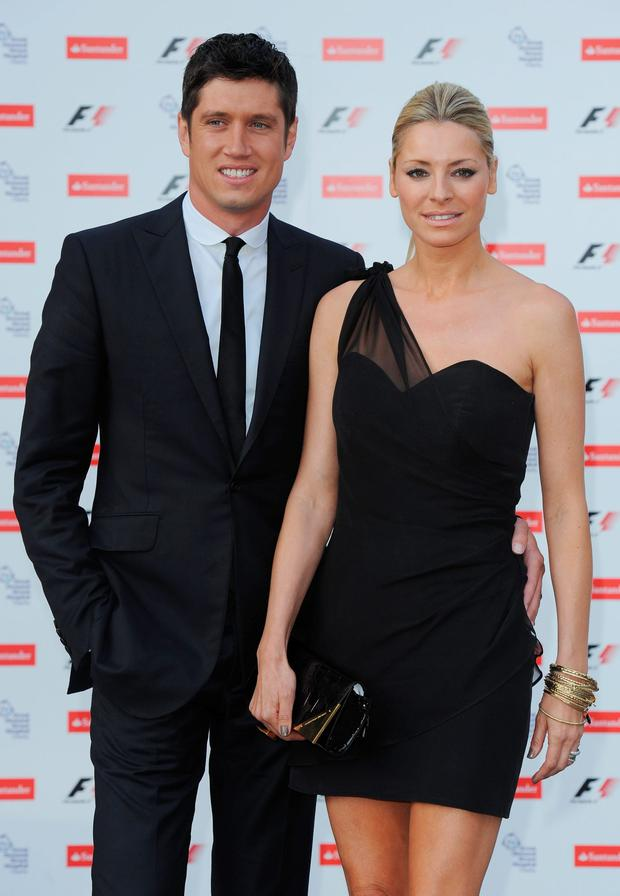 Vernon Kay (L) and Tess Daly attend the F1 party in aid of Great Ormond Street Hospital Children's Charity at the Natural History Museum on July 5, 2010 in London, England. (Photo by Ian Gavan/Getty Images)