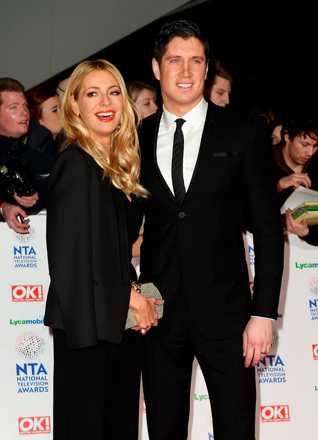 Tess Daly and Vernon Kay attend the National Television Awards at 02 Arena on January 22, 2014 in London, England. (Photo by Ian Gavan/Getty Images)