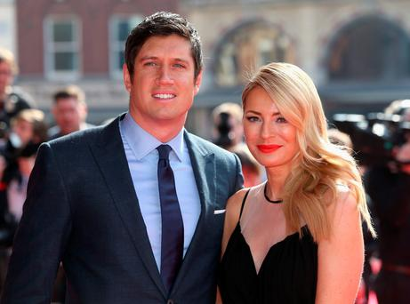 LONDON, ENGLAND - MARCH 12: Vernon Kay and Tess Daly attend the Prince's Trust & Samsung Celebrate Success awards at Odeon Leicester Square on March 12, 2014 in London, England. (Photo by Chris Jackson/Getty Images)