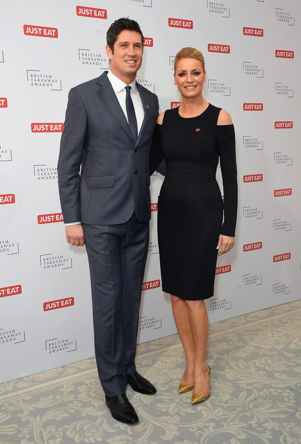Vernon Kay and Tess Daly attend the British Takeaway Awards at The Savoy Hotel on November 9, 2015 in London, England. (Photo by Stuart C. Wilson/Getty Images)