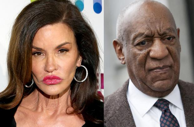 Janice Dickinson (left) and Bill Cosby (right)