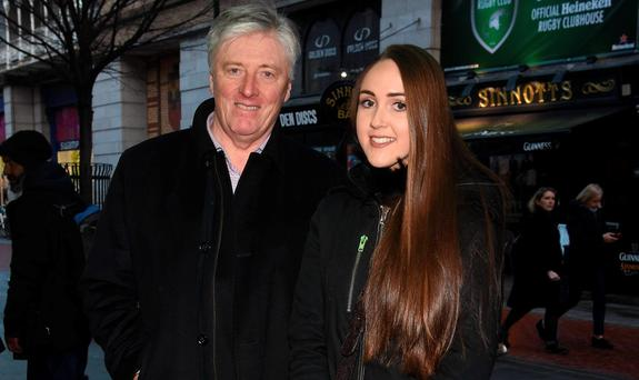Pat Kenny and daughter Kristina Kenny at the opening night of The 39 Steps at The Gaiety Theatre, Dublin