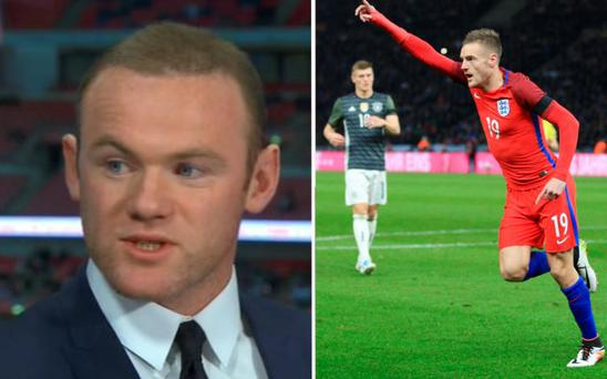 Wayne Rooney says his son wants Jamie Vardy's shirt