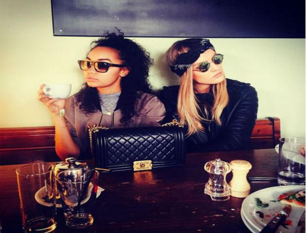 Leigh-Anne Pinnock and Perrie Edwards of Little Mix enjoy some free time in Dublin. Photo: Snapchat
