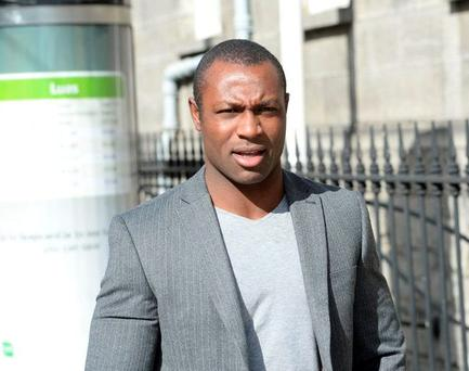 Francis Usanga outside court today (Photo: Sunday World)