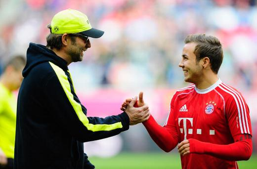 Mario Gotze and Jurgen Klopp
