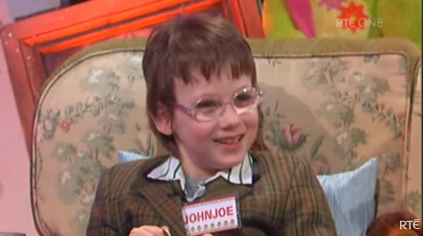John Joe Brennan on the Late Late Toy Show in 2009 when he was 8 years old