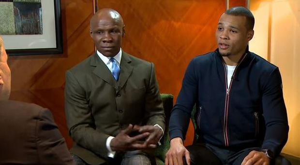 Chris Eubank Sr and his son Chris Jr did remarkably well to stay calm