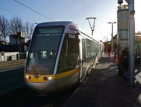 The Luas Red Line serves the Naas Road.