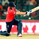 England's Jason Roy bats during their ICC Twenty20 2016 Cricket World Cup semifinal match against New Zealand at the Feroz Shah Kotla Cricket Stadium in New Delhi, India