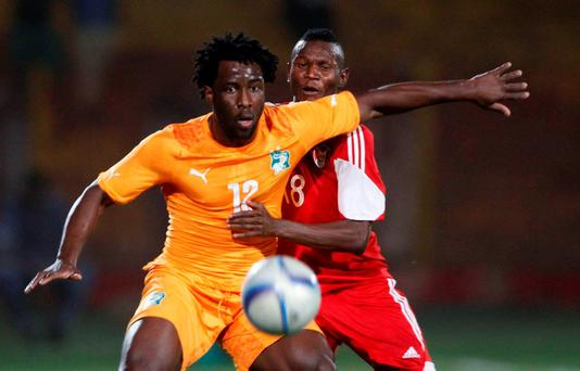 Wilfried Bony in action for the Ivory Coast