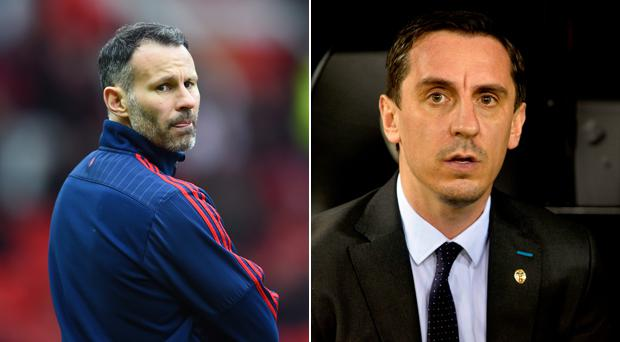 Ryan Giggs and Gary Neville