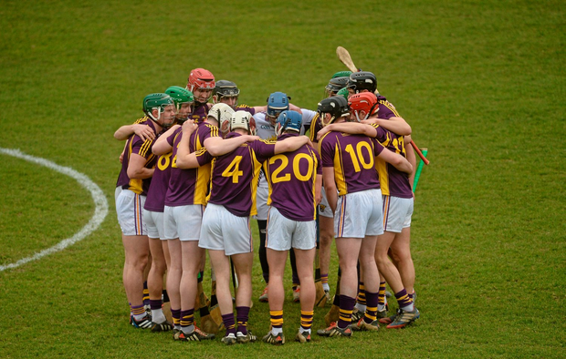 The Wexford pre-match huddle